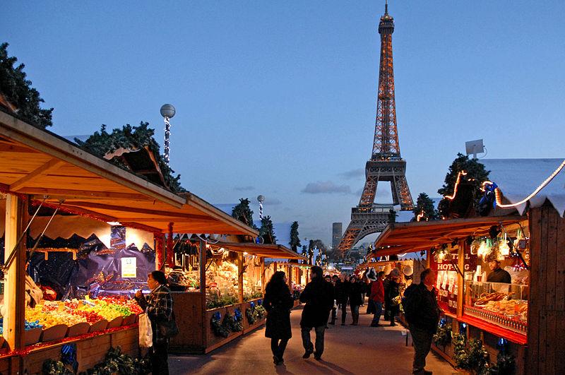 Passeio em dezembro em Paris