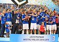 Lech Poznań Mistrz Polski 2014-15 Trofeum (cropped).JPG