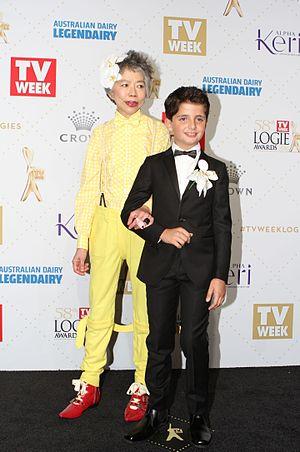 Lee Lin Chin - Chin at the 2016 Logie Awards