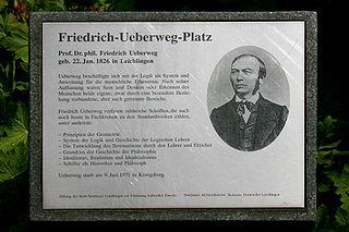 Friedrich Ueberweg German historian of philosophy