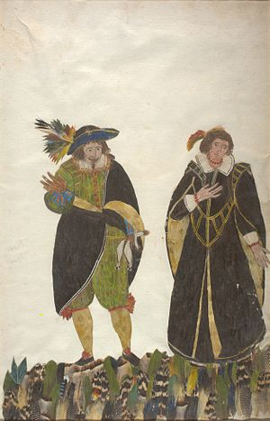 Giambattista Andreini - Image: Lelio and Florinda by Minaggio tavola 106