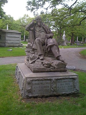 Leonard Volk - Memorial of Leonard Volk in Rosehill Cemetery, Chicago, Illinois