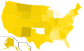 Libertarian Party presidential election results, 2012 (United States of America).png