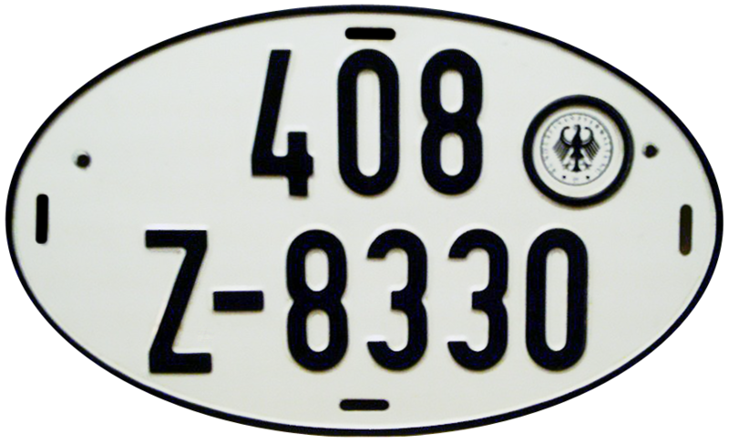 Файл:License plate of Germany for export vehicles.png