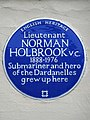 Lieutenant Norman Holbrook VC 1888-1976 submariner and hero of the Dardanelles grew up here.jpg