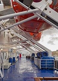 Lifeboat deck on Stena Danica 1.jpg