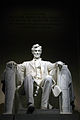 Lincoln Memorial - Abraham Lincoln statue at night.jpg