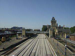 Lincoln Central railway station - View of the station in August 2007 showing then recently relaid track