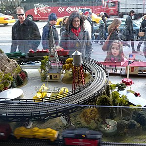 Lionel Corporation - A Lionel O gauge layout in New York City