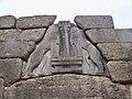 Lions Gate Detail, Mycenae, Greece (4691299607).jpg