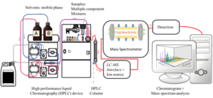 Liquid chromatography–mass spectrometry - Diagram of an LC-MS system