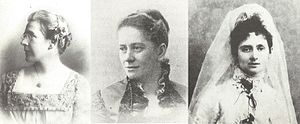 Liverpool Women's Suffrage Society - Edith Bright, Lydia Allen Booth and Nessie Stewart-Brown – the three founders of the Liverpool Women's Suffrage Society