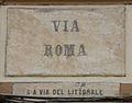 Livorno Via Roma street name 01.JPG