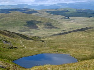 Cambrian Mountains - View over Llyn Llygad Rheidol from near the summit of Pumlumon