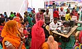 Local residence line up at the Aadhar Card Camp, during the Public Information Campaign, at Swaroopganj, Sirohi District, Rajasthan on December 10, 2015.jpg