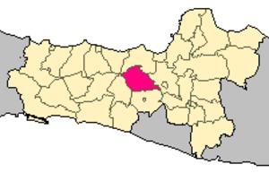 Temanggung Regency - Image: Locator kabupaten temanggung