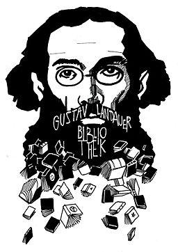 Logo Gustav-Landauer-Bibliothek