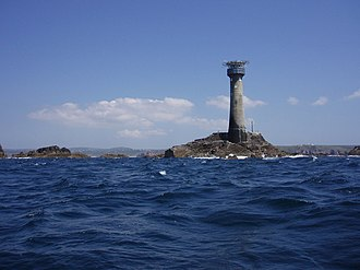 Longships Lighthouse - Longships lighthouse from the seaward side