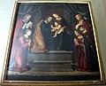 Lorenzo di credi, Madonna col Bambino tra i ss. Giuseppe, Giovanni Evangelista, Gregorio Magno, diacono e santa.JPG