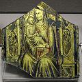Lorenzo monaco, placca in vetro dorato e inciso con la madonna col bambino, 1400 ca..JPG
