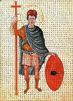 Miniature de 826, représentant Louis le Pieux.