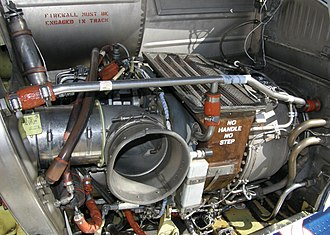 Lycoming LTS101 - LTS101-750C engine installation (left engine) in a Bell 222UT