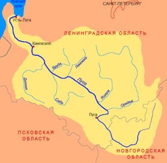 Luga River - Image: Luga basin
