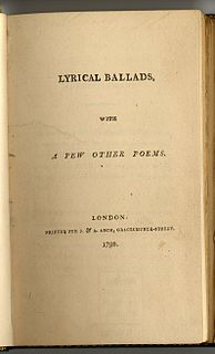 <i>Lyrical Ballads</i> poetry collection by Coleridge and Wordsworth