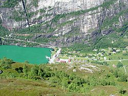 Lysebotn, located at the head of the Lysefjorden