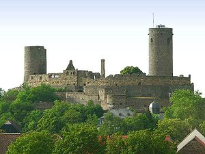 Imperial castle - The imperial castle of Münzenberg, Hesse, Germany