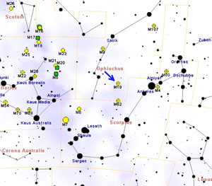 Messier 19 - Image: M19map
