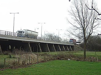 River Nene - M1 Motorway viaduct over the River Nene just south of junction 16