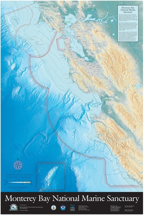 Map showing the location of Monterey Bay National Marine Sanctuary