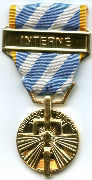 Political deportation and internment medal - Image: MEDAILLE DES INTERNES POLITIQUE