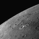 Smooth plains on Mercury imaged by MESSENGER during the third flyby of the planet.