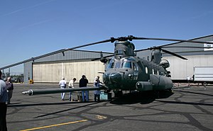 Ridley Park, Pennsylvania - MH-47G Chinook during the aircraft's rollout ceremony 6 May 2007 at Boeing in Ridley Park.