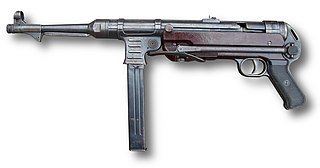 MP 40 WWII German submachine gun