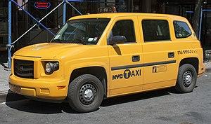 Vehicle Production Group - 2012 MV-1 yellow cab