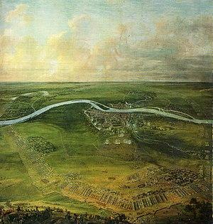 Французская армия осаждает Маастрихт, 1673 год.