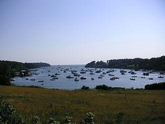 Bailey Island (Maine) - Lobster boats in Mackerel Cove on Bailey Island.