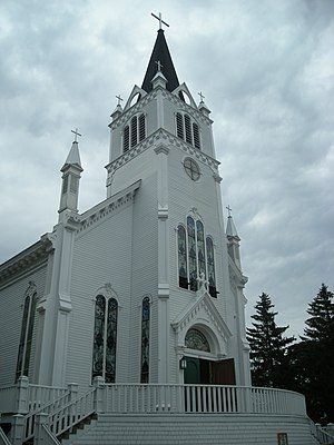 Sainte Anne Church (Mackinac Island) - Sainte Anne Church as it appeared in July 2010