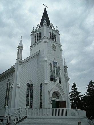 Sainte Anne Church (Mackinac Island) - Sainte Anne Church as it appeared in July 2010