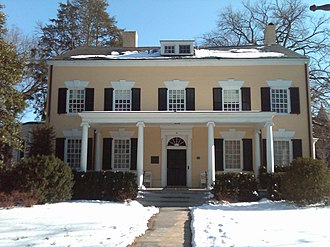 John Witherspoon - The President's House in Princeton, New Jersey. Completed in 1756, John Witherspoon lived here from 1768 to 1779; it is a U.S. National Historic Landmark.