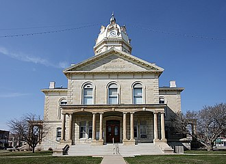 Winterset, Iowa - Madison County Courthouse in Winterset