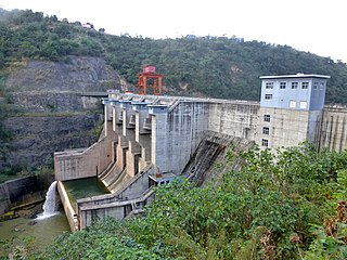 Madushan Dam dam in Gejiu City and Jinping County, Honghe Prefecture, Yunnan Province