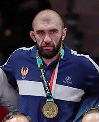 Magomed Ibragimov (wrestler, born 1985) - Ibragimov at the 2018 Asian Games