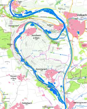 Karte Würzburg Und Umgebung.Mainschleife Volkach Wikipedia