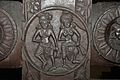 Male and Female Figures - Medallion - 2nd Century BCE - Red Sand Stone - Bharhut Stupa Railing Pillar - Madhya Pradesh - Indian Museum - Kolkata 2012-11-16 1835.JPG