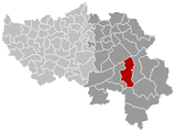 Location of Malmedy in the province of Liège
