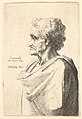 Man with doleful expression to left with hand emerging from cloak MET DP823718.jpg